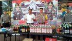 585 Botol Miras Disita Polres Batu Dalam Tumpas Semeru 2018
