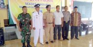 Danramil 0815/13 Kutorejo Hadiri Pelantikan Perangkat Desa