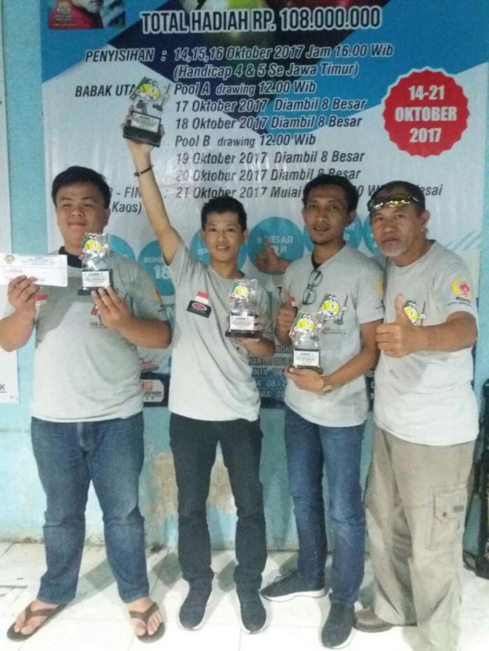 Tournament Billiard Nusantara di Kota Batu,  Masih Dikuasai Atlet Nasional