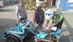 Satlantas Polres Bangkalan Tindak Bentor