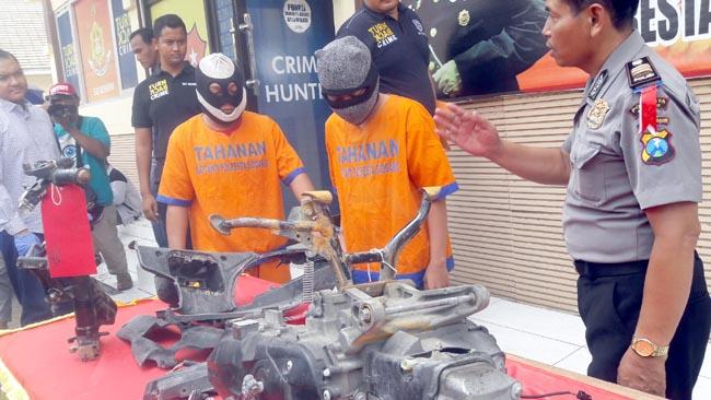 Takut Ketahuan Polisi, Motor Rampasan  Dipotong, Diceburkan Sumur