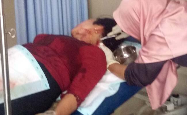 SELAMAT : Korban dirawat di UMM Hospital.(Foto Humas Polres Malang)