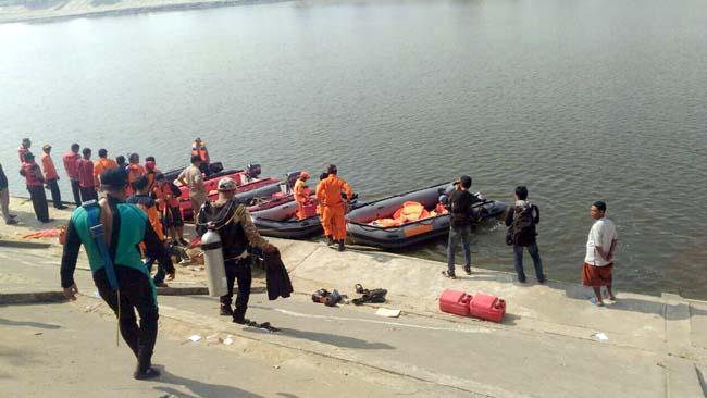 BPBD Terjunkan 2 Penyelam Basarnas, Cari Korban Tenggelam di Bengawan Solo