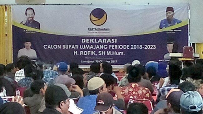 Partai Nasdem Deklarasikan Usung H Rofik Abidin SH MHum