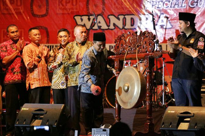 KPU Lumajang Launching  Tahapan Pilkada