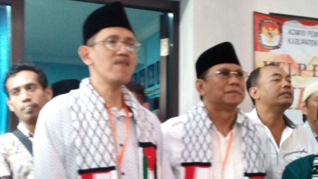 Imam Buchori dan Mondir, Dikawal Jawara Silat Daftar ke KPUD