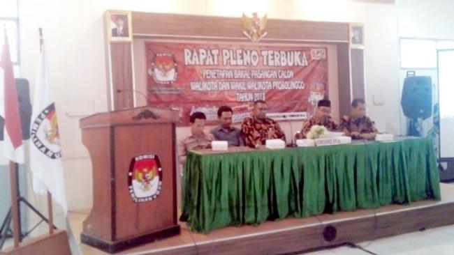 KPU Kota Probolinggo Tetapkan Empat Calon Walikota dan Wakil Walikota