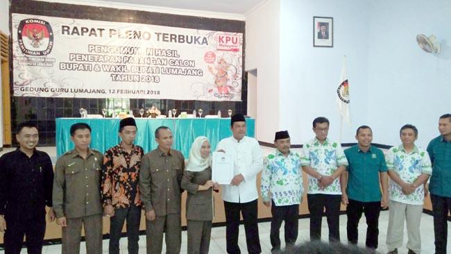 KPU Tetapkan Pasangan Calon Bupati dan Wakil Bupati Lumajang