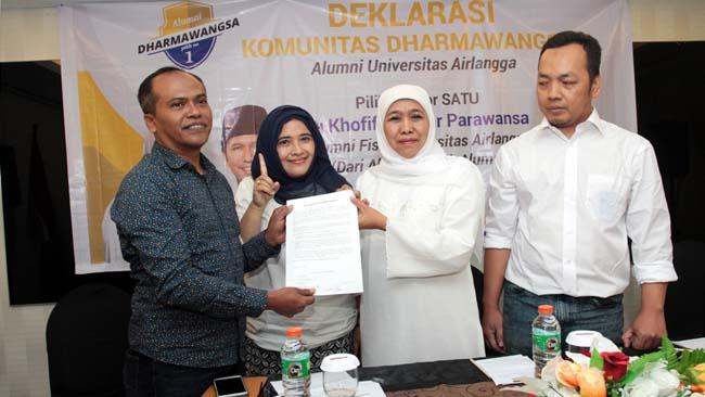 Alumni Unair Deklarasikan Dukung Khofifah