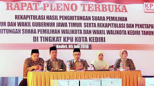 KPU Kota Kediri Umumkan Rekapitulasi Suara Pilwali