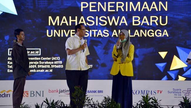 AEE UNAIR 2019, Rektor Langsung Terima 4 Mahasiswa Berprestasi