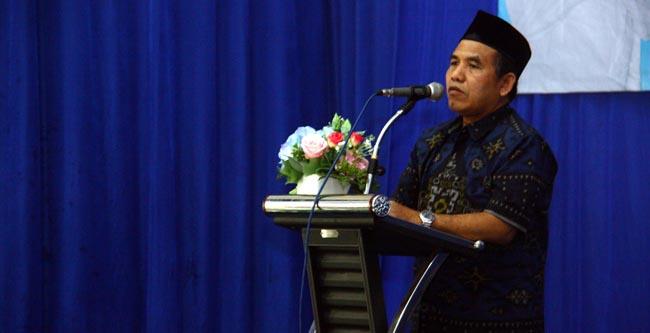 Kepala Dinas Kesehatan Kabupaten Malang dr. Abdurrachman M.Kes saat memberikan sambutan