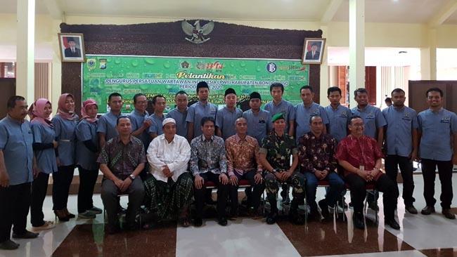 Pengurus PWI Kabupaten Bondowoso Dilantik