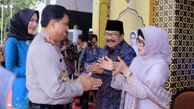 Kapolda  Halal Bihalal dengan Gubernur Jatim