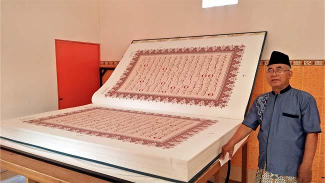 Mushaf Al-Qur'an Terbesar di Lamongan Miliki Berat Sebesar 4 Kuintal