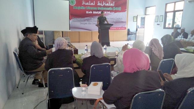 Dandim 0815 Hadiri Halal Bihalal MUI Kabupaten Mojokerto