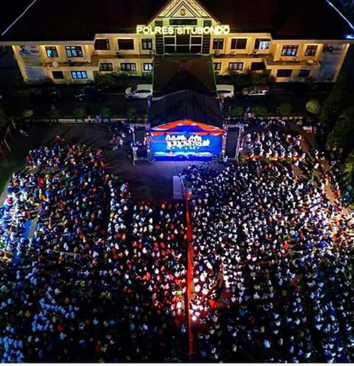 Hari Santri Nasional di Polres Situbondo, Sholawat Bhenning Untuk Persatuan dan Keamanan Bangsa