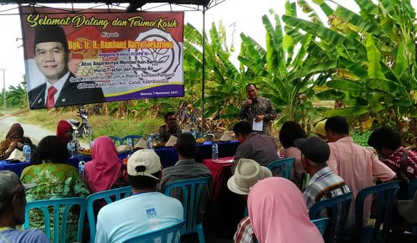 Bambang Haryo Gelontorkan Bantuan Suport Petani