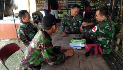 Satgas TMMD Sediakan Pemeriksaan Kesehatan Gratis di Desa Wedusan